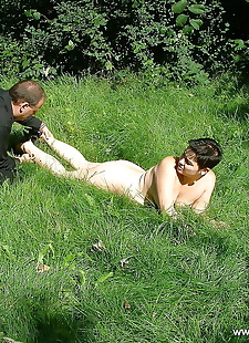 sex pics Amateur gothic asian chick is bound, bondage , outdoor