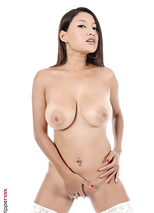sex pics Asian chick Cristina Miller grabs her, close up , nipples