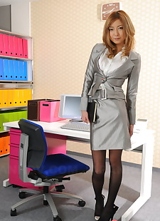 japanese sex pics Japanese secretary Nao looks sexy in, skirt , office