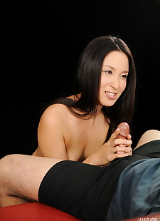 japanese sex pics Naked Japanese beauty with jet black, tiny tits , cumshot