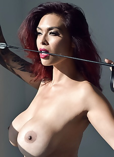 sex pics Top Asian model Tera Patrick poses, big tits , milf  boots