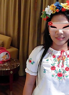sex pics Traditional folk dress wearing asian, shaved , blowjob