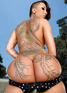 sex pics Asian big ass babe with tatoos bella, Bella Bellz , milf , bikini