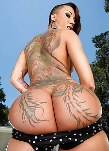 sex pics Tattooed asian bella bellz, Bella Bellz , beach